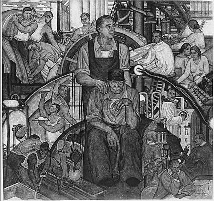 Peinture murale à la gloire de F. Roosevelt (1934)
